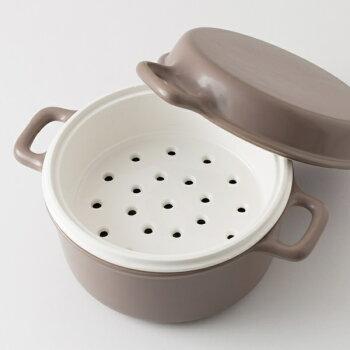 【かもしか道具店】三とく鍋ひとつの鍋で煮る、焼く、蒸すができる土鍋