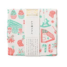 中川政七商店 かや織りふきん クリスマス 蚊帳生地 綿100% 日本製