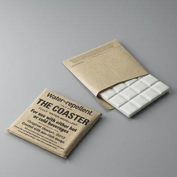 THE COASTER ザ コースター タイル製 ホワイト 四角 スクエア