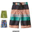 【 SALE セール 20% 】Patagonia パタゴニア 67816 ボーイズ・ウェーブフェアラー・ショーツ(股下25cm) Boys' Wavefarer Shorts キッズ 子供 水着 S