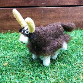 羊毛フェルトのぬいぐるみ かわいい動物 人形 キルギス ハンドメイド ヤク Yak DESIGNERS' FRIDGE デザフリ【天然ウール100%】