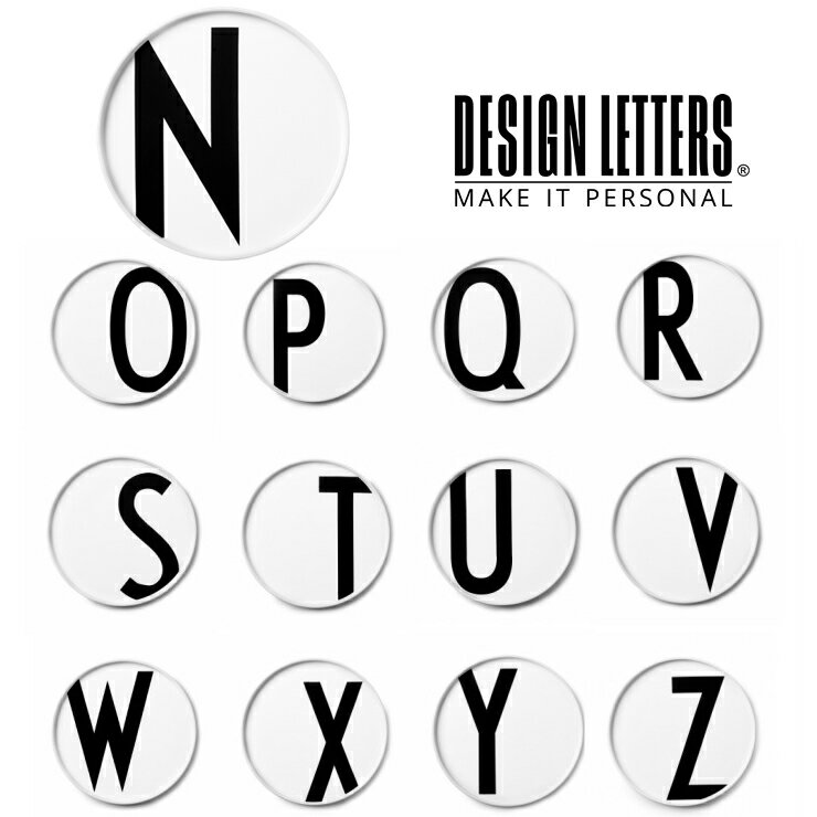 PERSONAL PORCELAIN PLATES BY DESIGN LETTERS デザインレターズ レタープレート N-Z