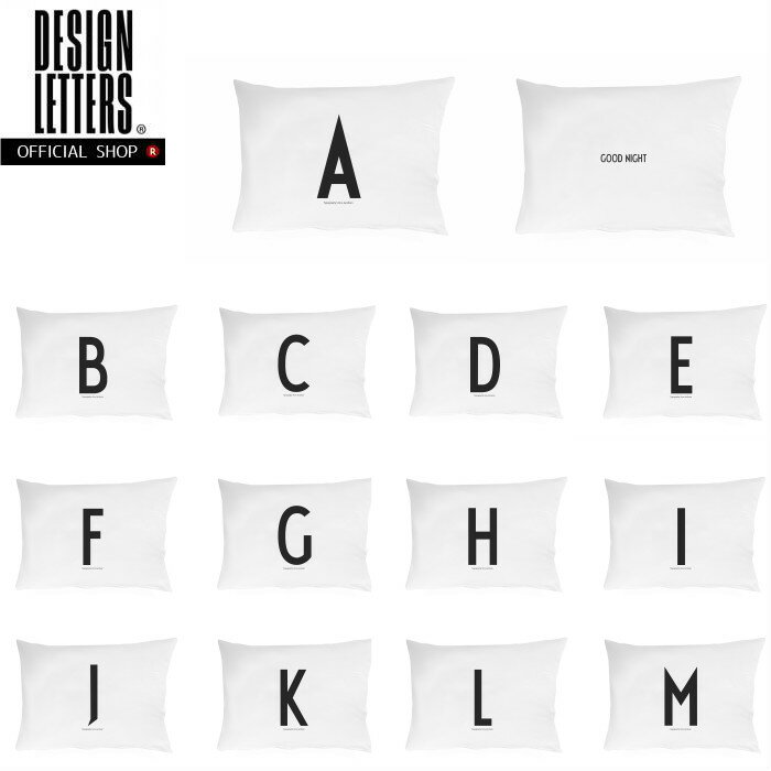 PERSONAL PILLOWCASE A-M BY DESIGN LETTERS パーソナルピローケース