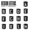 PERSONAL BLACK PORCELAIN CUPS A-M BY DESIGN LETTERS デザインレターズ  パーソナルブラックポーセリンレターマグ A-M