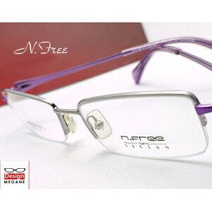 【送料無料】メガネ 度付き/度なし/伊達メガネ/pc用レンズ対応/【メガネ通販】n.Free TOKYO SEESUN Silver×Purple メタルフレーム 眼鏡一式 《送料無料》【smtb-m】