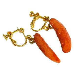 【送料無料】イヤリング 食品サンプル 柿の種 キッズ レディース こども オシャレ グッズ 女子 プレゼント かわいい お土産 キッズ 誕生日 プレゼント 日本製 リアル