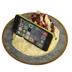 【送料無料】スマホスタンド iphone かわいい ジェラートバニラブルーベリーソース 食品サンプル インテリア お土産 日本製 リアル スマ-トフォン スタンド 置き場