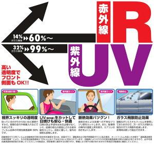 UVカットIRカットフィルムオリジナル製スモークラゲッジSUZUKIスズキエブリィワゴンH17/9〜H27/2DA64WS006-21スモーク