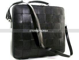 ETERNO BORSA(エテルノボルサ)LAPTOP CASE SINGLE CALF ラップトップ ショルダー ビジネスバッグOXO40101-C ブラック