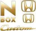 メール便可 HONDA ホンダ 純正 NBOX N-BOX エヌボックス ゴールドエンブレム N-BOX Custom用(Hマーク2個+車名エンブレム+Cust...