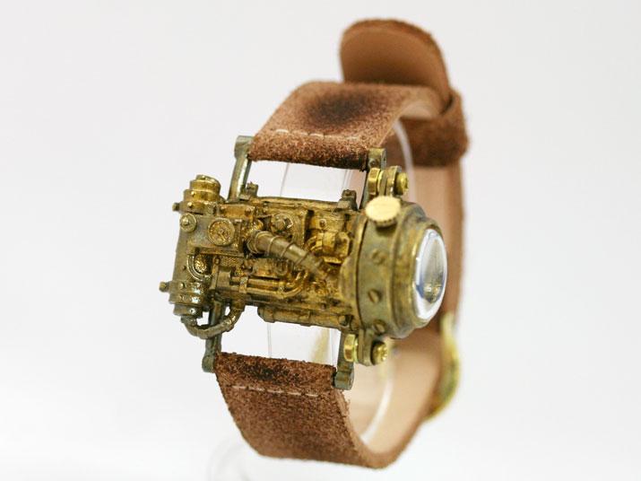 送料無料 Ks Mechtopia I side view手作り腕時計
