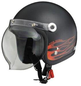 LEAD リード工業 BARTON BC-10 ジェットヘルメット ファイアエンジェル | おしゃれ おすすめ ジェット ヘルメット ヘルメ バイク 原付 レディース シールド バブルシールド 交換 かっこいい 開閉