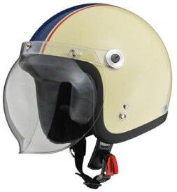 LEAD リード工業 BARTON BC-10 ジェットヘルメット アイボリー×ネイビー | おしゃれ おすすめ ジェット ヘルメット ヘルメ バイク 原付 レディース シールド バブルシールド 交換 かっこいい 開閉 風 虫 雨 対策 ワンタッチ UVカット バイク用品 リード ポイント消化