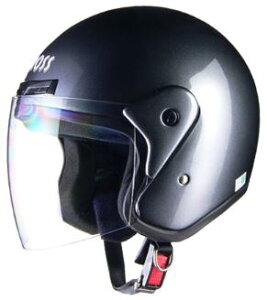 LEAD リード工業 CROSS CR-720 ジェットヘルメット ガンメタリック   ジェット ヘルメット ヘルメ バイク 原付 メンズ レディース シールド 交換 ガンメタリック かっこいい おしゃれ あご紐 ワン