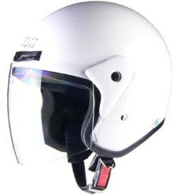 LEAD リード工業 CROSS CR-720 ジェットヘルメット ホワイト | ジェット ヘルメット ヘルメ バイク 原付 メンズ レディース シールド 交換 ホワイト かっこいい おしゃれ あご紐 ワンタッチ 便利 UVカット バイク用品 リード 二輪 通勤 通学 白 ポイント消化