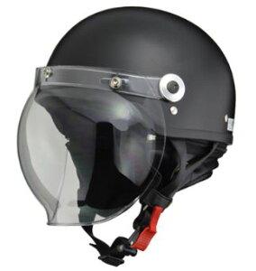 LEAD リード工業 CROSS CR-760 ハーフヘルメット ハーフマットブラック   バイク ハーフ ヘルメット ヘルメ バブルシールド シールド メンズ レディース 原付 かっこいい おしゃれ バイク用品 開