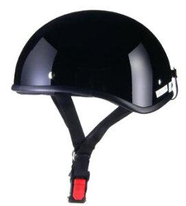 LEAD リード工業 D'LOOSE D-355 ハーフヘルメット ブラック   バイク ハーフ ヘルメット ヘルメ メンズ レディース 原付 かっこいい おしゃれ インナー バイク用品 交換 リード あご紐 ワンタッチ