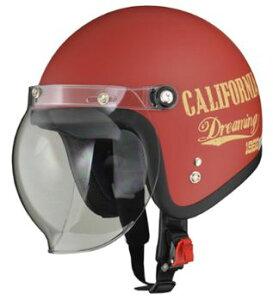 LEAD リード工業 MOUSSE ジェットヘルメット DREAMIN RED | ジェット ヘルメット ヘルメ バイク 原付 メンズ レディース クリア シールド バブルシールド かっこいい インナー おしゃれ デザイン ワ