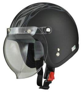 LEAD リード工業 MOUSSE ジェットヘルメット MAT TRIBAL | ジェット ヘルメット ヘルメ バイク 原付 メンズ レディース クリア シールド バブルシールド かっこいい インナー おしゃれ デザイン ワ