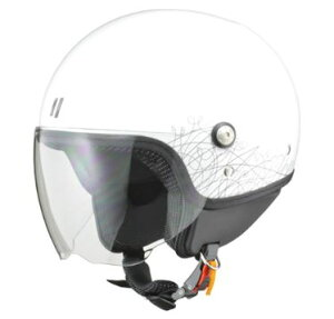 LEAD リード工業 PALIO ジェットヘルメット ホワイト   ジェット ヘルメット ヘルメ バイク 原付 レディース シールド かわいい インナー おしゃれ あごひも ワンタッチ 交換 替え 内装 バイク用