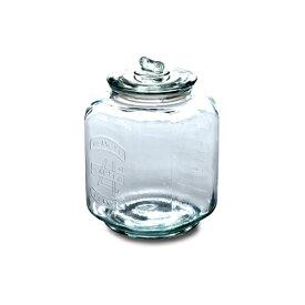 ピーナッツジャー No.4 ガラス W19 D19 H26cm | ピーナッツ ジャー キャンディ キャンディー クッキー お菓子 グラスジャー ガラス ジャー キャニスター 瓶 ビン 保存容器 保存瓶 ガラス保存容器 アンティーク おしゃれ