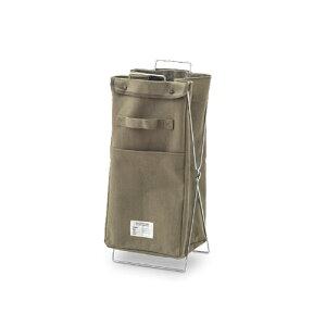 ダストパック カーキ コットン ポリエステル W25 D24 H52cm | ごみ箱 ゴミ箱 ダストボックス ダストパック ふた付き フタ付き スリム ペダル ペダル付き インテリア おしゃれ オシャレ キッチン