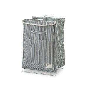 ランドリーバッグ ヒッコリー コットン W42 D34 H57cm | ランドリーボックス ランドリーバスケット 洗濯物入れ 洗濯カゴ 洗濯かご 脱衣かご 洗濯籠 ランドリーバッグ バスケット おしゃれ かご