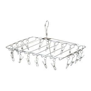 ステンレススチールピンチハンガー 20ピンチ ステンレス スチール W44 D35 H26cm | ステンレス スチール ハンガー ピンチ ステンレスピンチハンガー ハンガー 物干し 洗濯ハンガー 洗濯 ランドリ