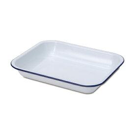 ベイクパン L ブルー ホーロー W31.5 D25 H5cm | ペイクパン バット パット ホウロウ ほうろう 琺瑯 白 キッチン キッチン雑貨 ナチュラル 北欧 雑貨 アンティーク おしゃれ インテリア かっこいい シンプル 新生活