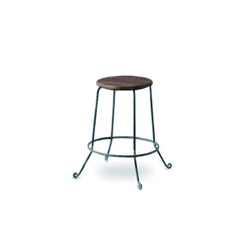 W.S アイアンスツール アイアン シーシャムウッド 直径56 H47cm | デザイン スツール アイアン アンティーク リビングチェアー 玄関椅子 いす イス おしゃれ シンプル スタイリッシュ モダン レトロチェア レトロ カフェ 北欧 花台