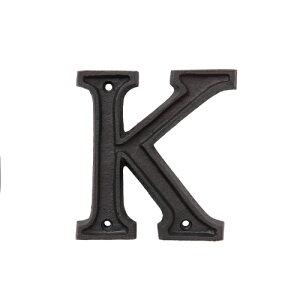 アルミアルファベット K アルミニウム D2 H10.5cm | アルミ アルファベット パーツ DIY おしゃれ カワイイ 華やか 英語 文字 ディスプレイ 飾り 女子力 素敵 ナチュラル ガーデン 花壇 表札 ボード