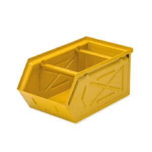【10/25限定●楽天カードでP最大10倍】 スタッキングストレージBOX イエロー スチール W16 D28.5 H13.5cm   ボックス 箱 スタッキング 収納 積み重ね カラー豊富 かわいい キッチン リビング 小物 雑