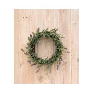 ラベンダーリース PVC ラタン φ30 D13cm   造花 アートフラワー フェイク グリーン 観葉植物 寄せ植え 飾り アンティーク ディスプレイ インテリア 北欧 おしゃれ 玄関 リビング ガーデン 祝い