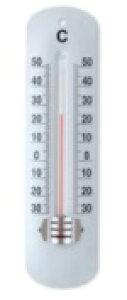 TOP-1 温度計 ホワイト スチール ガラス W5 H19cm | アンティーク調 アナログ温度計 ホーム キッチン レトロ インテリア インテリア雑貨 おしゃれ 店 管理 インフルエンザ シンプル 壁掛 カフェ
