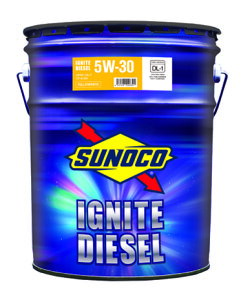 SUNOCO スノコ ディーゼルエンジンオイル IGNITE DIESEL イグナイト ディーゼル 5W-30 DL-1 20L缶 | 5W30 DL1 20L 20リットル ペール缶 オイル 交換 人気 オイル缶 油 エンジン油 車検 車 オイル交換 ポイン