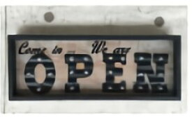TRI MERQUEE LIGHT FRAME OPEN SLW083 | ライト OPEN オープン マーキーライト アメリカンテイスト USBコネクタ 置き型 卓上 壁掛け 置き掛け兼用 壁掛け フック付き ディスプレイ インテリア 間接照明 アンティーク レトロ ウォールライト ショップ 店舗 インテリア