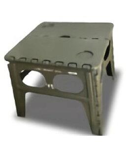 TRI FOLDING SERIES FOLDING TABLE Chapel OLIVE SLW127 | イス スツール チェア 折りたたみ カラフル 踏み台 脚立 補助いす ステップ ミニサイズ アウトドア キャンプ アウトドア用品 ピクニック バーベキュ