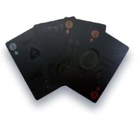 TRI PLAYING CARDS BLACK SLW144 | トランプ カード カードゲーム ゲーム プラスチック ブラック 黒 プレイングカード PVC素材 ポーカー カジノ 大富豪 マジック 手品 テーブル ゲーム クリスマス お正月 年末年始 パーティー イベント 雑貨 おもちゃ ホビー 家族 友達