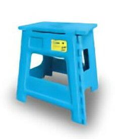 TRI FOLDING STOOL Casino BLUE SLW174 | イス スツール チェア 折りたたみ カラフル 踏み台 脚立 補助いす ステップ ミニサイズ アウトドア キャンプ アウトドア用品 ピクニック バーベキュー 釣り プール 頑丈 耐荷重180kg 簡易テーブル ミニテーブル 大人も使える