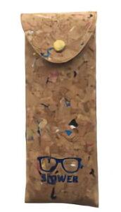 TRI EYEGLASS CASE PAINT CORK BUCA PAINT CORKインナーカラー NAVY SLW533 | 眼鏡ケース メガネケース サングラスケース 保護ポーチ メガネ入れ ハードケース お洒落 コルク ペイント カラフル 縦型 スリム