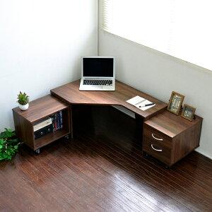 パソコンデスク3点セットコーナーデスクL字型コーナー三角ローデスクロータイプコンパクト省スペースl字型おしゃれブラウンオーク収納木製PD012n北欧リモートワークテレワーク在宅勤務ホームオフィス送料無料