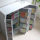 DVDラックDVD収納ラックDVDCDCDラックCD収納棚CD収納ラックおしゃれ大容量CD収納大量収納ディスプレイ棚収納ラックCDストッカーDVDストッカー日本製js70