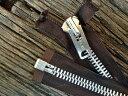 ビンテージ タロン ジッパー #10 Brown SilverTALON Zipper