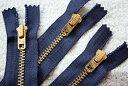 Vintage タロン ジッパー 42 ブラス Dark NAVY ジーンズ用 ダークネイビー 濃紺 TALON Zipper