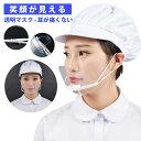 【300円OFFクーポン発行中】【50枚セット】高品質 透明マスク クリアマスク 透明マスク 飛沫防止 調節可能 耳が痛くな…