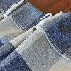 德普雷限定特價★[日本製造]格子花紋棉混合提花機布料立體皺紋窗簾1張<100cm寬度*178cm長>