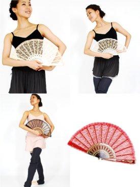 レース扇子 バレエ用品 発表会 舞台用扇子 フラメンコ キトリの扇子 ドゥッシュドゥッスゥ