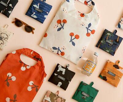 エコバッグPocketBag01Lサイズ/デイリーライクDailylike【ゆうパケット対応】折りたたみブランドおしゃれかわいいメンズコンパクト大きめ犬花幾何学模様鳥アヒルさくらんぼ動物カモメヤシの木ブランド