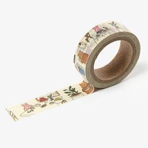 【SALE】マスキングテープ My buddy masking tape - 02 Bake shop/デイリーライク Dailylike デコレクションズ decollections【メール便対応】マステ スクラップブッキング ラッピング コラージュ 柄 動