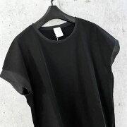 PUPULAププラロイヤルコットンストレッチパワーネットトリムハーフスリーブTシャツ【セレクトショップ】【レディースファッション30代40代50代】【select】